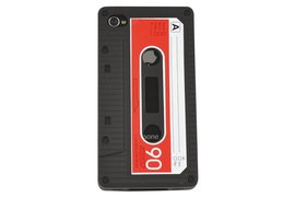 Telefoonhoes Dresz silicone iPhone 4/4S motief cassette