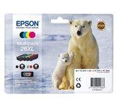 Inkcartridge Epson T2636 zwart + 3 kleuren XL
