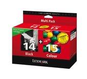 Inkcartridge Lexmark 80D2979 14 + 15 zwart + kleur