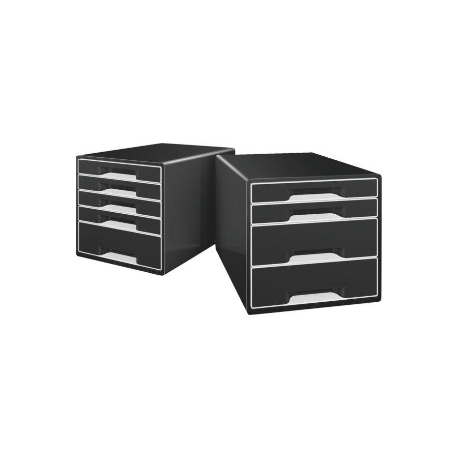 Ladenblok leitz 5252 cube 4 laden zwart bestel uw for Leitz ladeblok