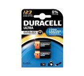 Batterij Duracell Ultra 2x123 lithium