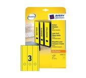 Rugetiket Avery L4755-20 297x61mm + gat zelfklevend geel