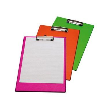Klembord LPC A4/Folio met 100mm klem neon groen