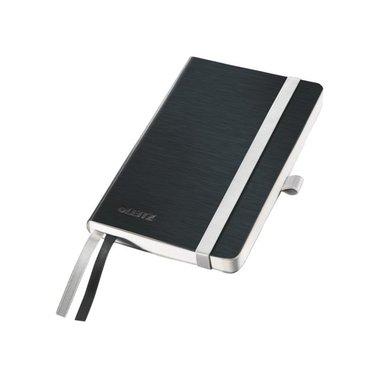 Notitieboek Leitz Style zachte kaft A6 gelinieerdsatijnzwart