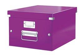 Opbergbox Leitz Click & Store 265x188x335mm paars