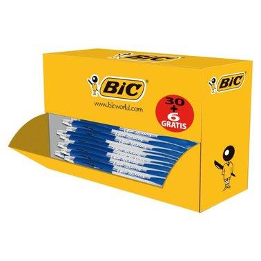 Balpen Bic Atlantis Classic blauw medium doos à 30+6 gratis