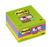 Memoblok 3M Post-it 675-SSU Super Sticky 100x100mm rainbow
