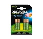 Batterij oplaadbaar Duracell 4xAAA 850mAh Ultra