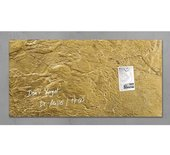 Glasbord Sigel magnetisch 910x480x15mm goud metallic
