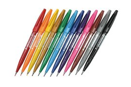 Brushstift Pentel Sign SES15C etui à 12 assorti