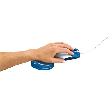 Polssteun voor muis Fellowes gel transparant blauw