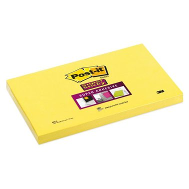 Memoblok 3M Post-it 655-S Super Sticky 76x127mm ultra geel