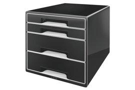 Ladenblok Leitz 5252 Cube 4 laden zwart