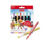 Viltstift Bruynzeel Young 7945 glitterpunters 6stuks
