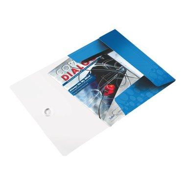 Elastomap Leitz WOW 3kleps A4 PP blauw