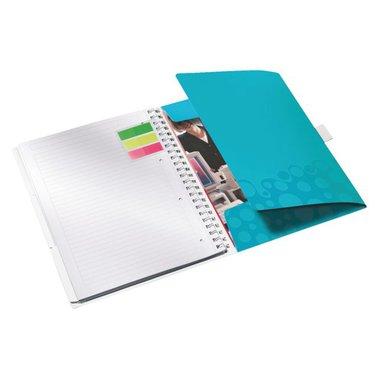 Notitieboek Leitz WOW Bi Mobile A4 PP lijn ijsblauw
