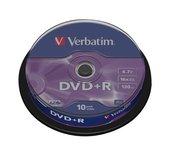 DVD+R Verbatim 4,7GB 16X spindel 10stuks