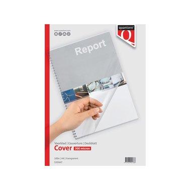 Voorblad Quantore A4 PVC 300micron transparant 100stuks