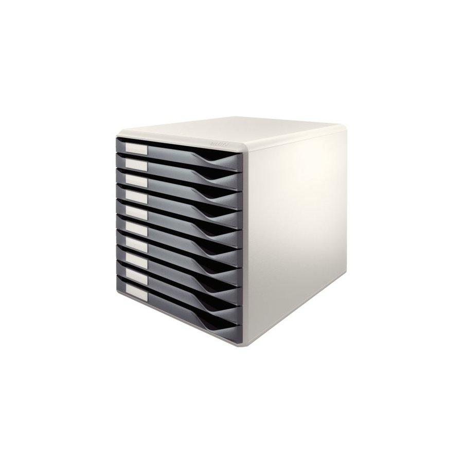 Ladenblok leitz 5281 10 laden grijs bestel uw ladenblok for Ladenblok kunststof
