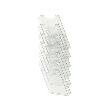 Folderhouder Multiform wand A4 staand helder transparant