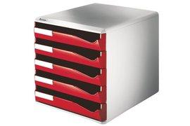 Ladenblok Leitz 5280 5 laden rood