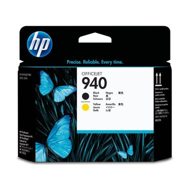 Printkop HP C4900A 940 zwart + geel