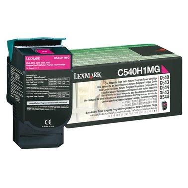 Tonercartridge Lexmark C540H1MG prebate rood HC