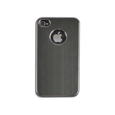 Telefoonhoes Dresz aluminium finish iPhone 4/4S zwart