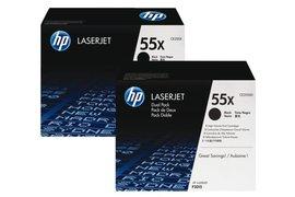 Tonercartridge HP CE255XD 55X zwart 2x HC