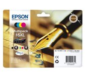 Inkcartridge Epson T1636 zwart + 3 kleuren XL
