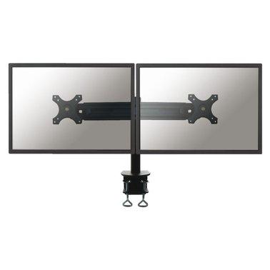 """monitorarm Newstar D700D 2x19-30"""" met klem zwart"""