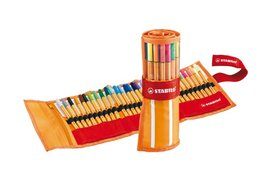 Fineliner Stabilo Point 88 30stuks assorti rollerset