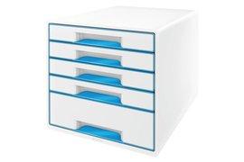 Ladenbox Leitz 5214 WOW 5 laden wit/blauw