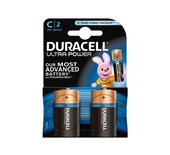 Batterij Duracell Ultra Power 2xC MX1400