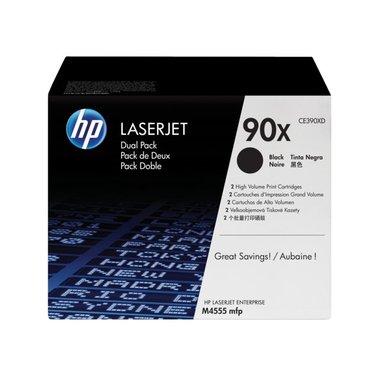 Tonercartridge HP CE390XD 90X zwart HC 2x