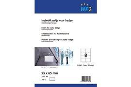 badgekaart HF2 95mmx65mm 180gr wit