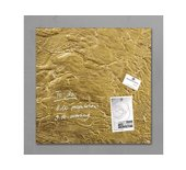 Glasbord Sigel magnetisch 480x480x15mm goud metallic