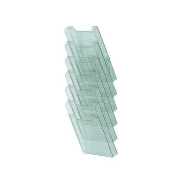 Folderhouder Multiform wand A4 staand groen transparant