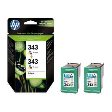 Inkcartridge HP CB332EE 343 kleur 2x