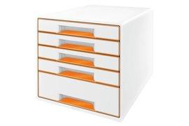 Ladenbox Leitz 5214 WOW 5 laden wit/oranje