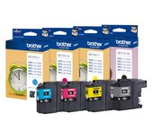 Inkcartridge Brother LC-127XLVALBP zwart+3 kleuren HC
