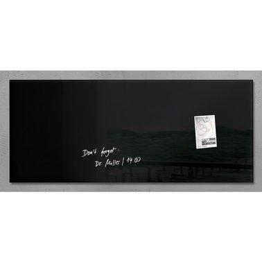 Glasbord Sigel magnetisch 1300x550x15mm zwart