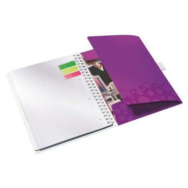 Notitieboek Leitz WOW Bi Mobile A4 PP lijn paars