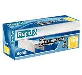 Nieten Rapid 13/6 gegalvaniseerd standaard 5000 stuks