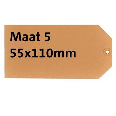 Label karton nr5 200gr 55x110mm chamois 1000stuks