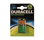 Batterij oplaadbaar Duracell 9Volt 170mAh Plus
