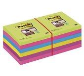 Memoblok 3M Post-it 654-SUC Super Sticky rainbow