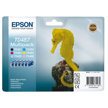 Inkcartridge Epson T048740 zwart+5 kleuren