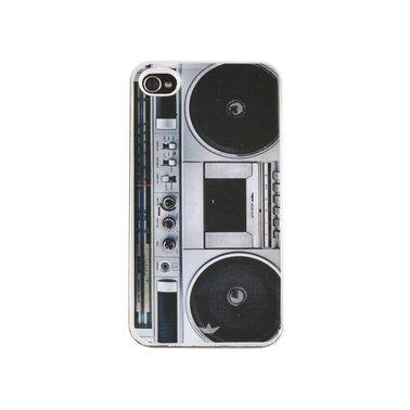 Telefoonhoes Dresz iPhone 4/4S motief radio