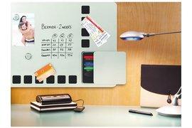 Whiteboard Duobord Rexel 61x39cm zilver magnetisch